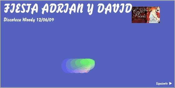 Fiesta Adrian y David