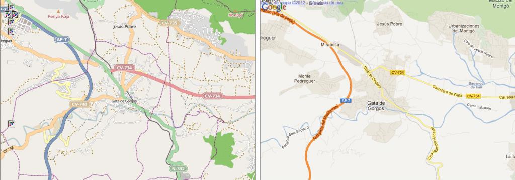 Gata de Gorgos Openstreetmap mapping party