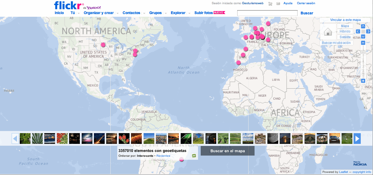 Flickr Map blog gerson beltran