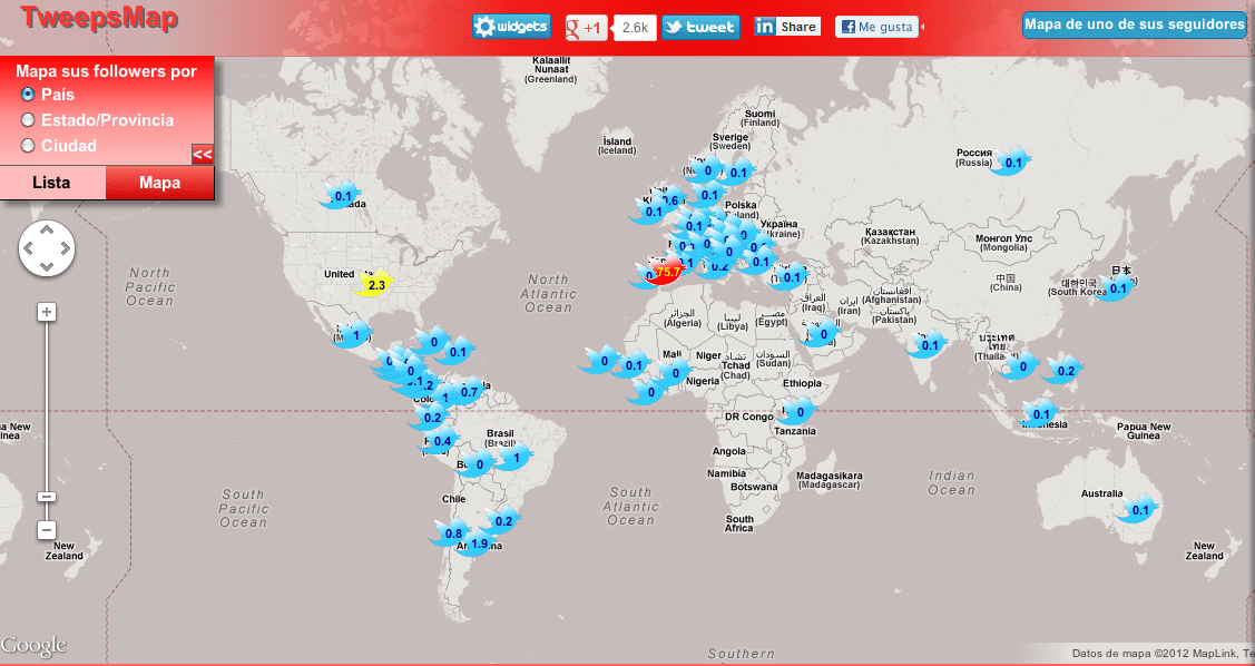 Twitter Map blog gerson beltran
