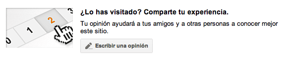 Google Local compartir opinión