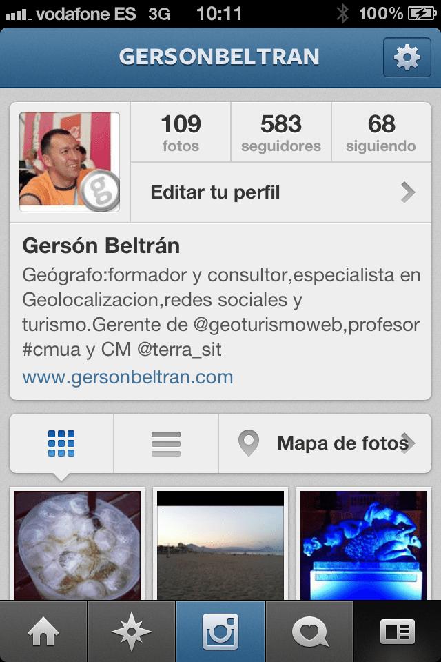 perfil Instagram gersonbeltran