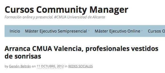 Community Manager cmua gersonbeltran