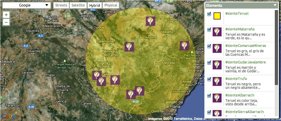 mapa #sienteTeruel