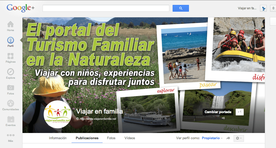 Viajar en Familia google plus gerson beltran