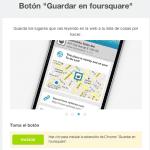 """Nuevo botón de """"Guardar en Foursquare"""""""