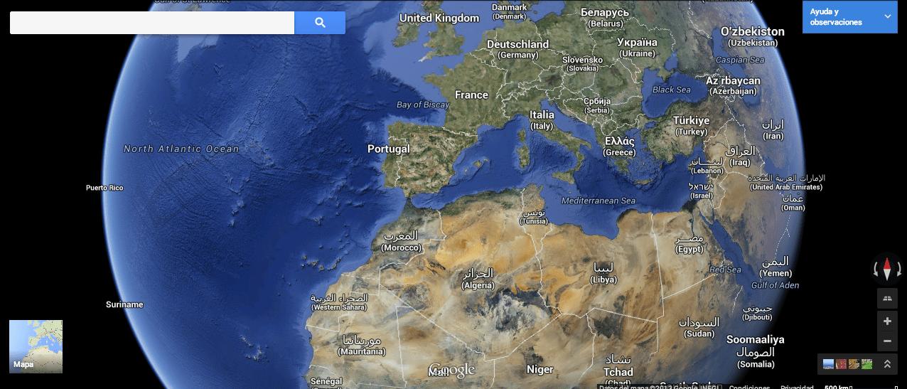 7. Vista Tierra Google Maps gersón beltrán
