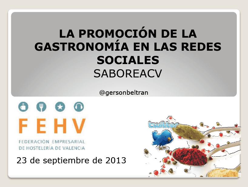 La promoción de la gastronomía en las redes sociales
