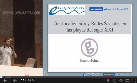 video geolocalización y redes sociales en las playas