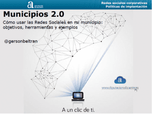 Municipios 20, como usar las Redes Sociales en mi municipio