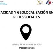 Privacidad y geolocalización en las redes sociales