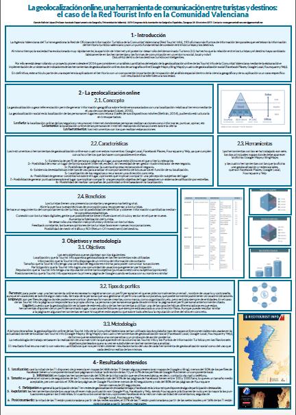 El póster de la geolocalización online, una herramienta de comunicación entre turistas y destinos, el caso de la Red Tourist Info en la Comunidad Valenciana